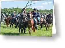 Gettysburg Cavalry Battle 7992c  Greeting Card
