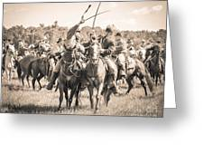 Gettysburg Cavalry Battle 7992s  Greeting Card