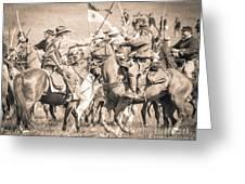 Gettysburg Cavalry Battle 8021s  Greeting Card