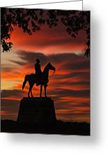 Gettysburg - Gen. Meade At First Light Greeting Card
