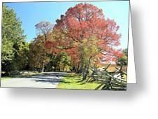 Gettysburg  In The  Fall Greeting Card