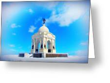 Gettysburg Memorial In Winter Greeting Card