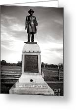 Gettysburg National Park 13th Vermont Infantry Monument Greeting Card