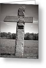 Gettysburg National Park 142nd Pennsylvania Infantry Monument Greeting Card