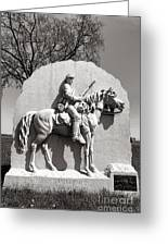 Gettysburg National Park 17th Pennsylvania Cavalry Monument Greeting Card