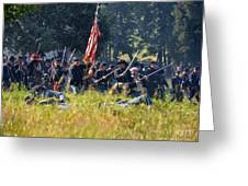 Gettysburg Union Infantry 9348c Greeting Card