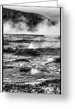 Geysers Of Yellowstone Greeting Card