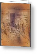 Ghost Chamber With The Tall Door New Version Greeting Card