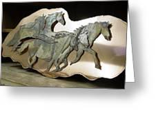 Ghost-herd Sold Greeting Card by Steve Mudge