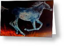 Ghost Horse Greeting Card