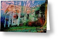Ghost House Bold Greeting Card
