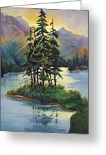 Ghost Island Near Jasper Greeting Card