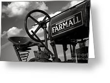 Ghost Of Farmall Past Greeting Card