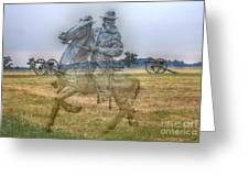 Ghost Of Gettysburg Greeting Card by Randy Steele