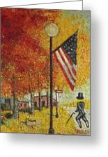 Ghost Of Lincoln Highway Greeting Card