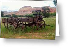 Ghost Ranch Wagon Greeting Card