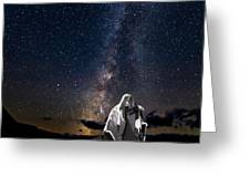 Ghost Rider Under The Milky Way. Greeting Card by James Sage