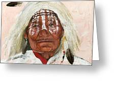 Ghost Shaman Greeting Card by J W Baker