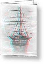 Ghost Ship - Use Red-cyan 3d Glasses Greeting Card