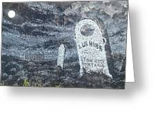 Ghost Town Boot Hill Greeting Card