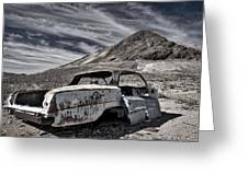 Ghost Town Junked Car Greeting Card