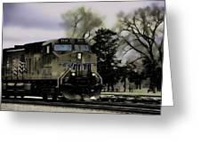 Ghost Train Greeting Card