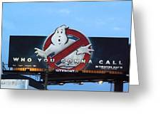 Ghostbusters In La Greeting Card