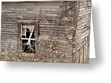 Ghostly Abndoned House Greeting Card