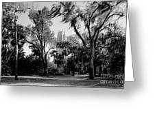 Ghostly Bok Tower Greeting Card