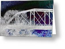 Ghostly Bridge Greeting Card