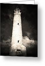 Ghostly Lighthouse Greeting Card