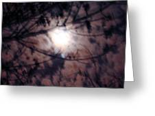 Ghostly Moon Greeting Card