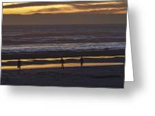Ghostly Sunset Walk Greeting Card