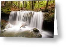 Ghostly Waterfall Greeting Card