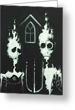 Ghosts Of American Gothic Greeting Card
