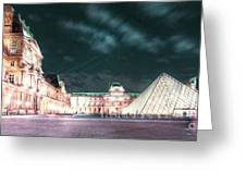 Ghosts Of The Louvre Museum 2  Art Greeting Card