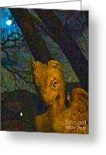 Ghoul And Full Moon 1 Greeting Card