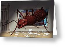 Giant Ant Greeting Card