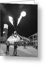 Giant Flamethrowing Praying Mantis Greeting Card