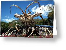 Giant Lobster Greeting Card by Tammy Chesney