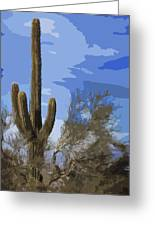 Giant Saguaro Greeting Card