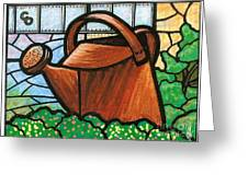 Giant Watering Can Staunton Landmark Greeting Card