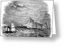 Gibraltar, 1843 Greeting Card