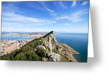 Gibraltar Rock Bay And Town Greeting Card