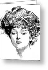 Gibson Girl, 1900 Greeting Card