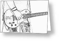 Gibson Les Paul Guitar Sketch Greeting Card
