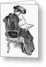 Gibson: Woman Reading Greeting Card