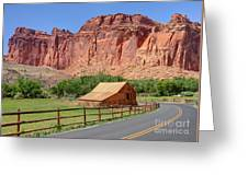 Gifford Homestead Barn - Capitol Reef National Park Greeting Card