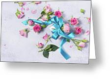 Gift And Flowers Greeting Card