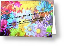 Giggle Patch Quote Greeting Card